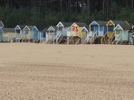 The iconic beach huts on Wells beach