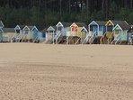 The iconic beach huts on Wells beach