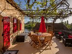 Wonderful terrace off the lounge area. River views, dinning for 8