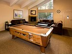 Full use of recreation room with sauna, pool table,kitchen, fireplace, and flat screen TV