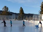 Great family activity- Ice skating at Mammoth Ice Rink, next to ML Library, and 7 minutes from condo