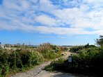 Walk down the path to the shore - West Yarmouth Cape Cod New England Vacation Rentals