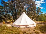 Perfectly situated glamping tent