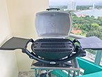 BBQ Gas Grill With Gas Canisters Provided