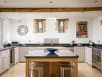 The beautifully presented kitchen