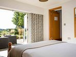 Bedroom 4 has stunning views and contains a double bed