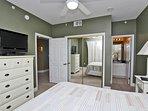 Flat Screen TV, Closet, and Private Bath