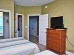 Flat Screen TV, Closet Space, Access to the Hallway Bathroom