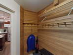 Mudroom to store your gear and equipment