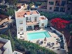 Ariel view of villa