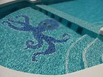 Children's Swimming pool end with Octopus.