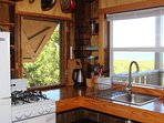 Kitchen view overlooks The Atlantic