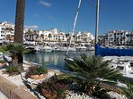 Duquesa marina mid October 2018, a lovely place for a walk and a coffee