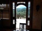 Front door looking toward Sierra Blanca