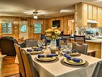 Every meal feels like a special occasion around this charming dining table.