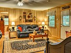 You'll feel right at home inside the cottage's tastefully decorated interior.