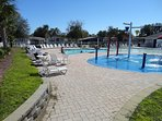 Kids play pool and kids swimming pool