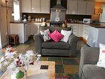 Poppy Cottage No. 1 open plan kitchen and lounge
