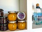 Always homemade jams on offer......