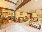 Large characterful lounge with underfloor heating