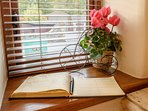 Add a comment to the visitors book or read what previous guests recommend to do during your stay