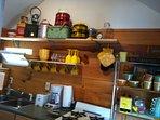 The kitchen part 1- 4 burner stove & double sink- next pic has fridge