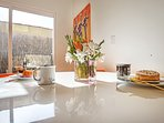 Eating area for breakfast or dinner--cheerful and modern