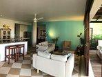 Livingroom and open plan kitchen