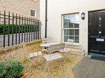Your own front door and suntrap patio area
