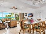 Crystal Sands Villa - Downstairs dining inside!