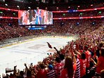 Discover Montreal's favorite sport with an ice hockey game at nearby Bell Center