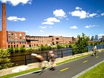 Get moving! You get plenty of options - Why not rent a Bixi city bike and explore Lachine Canal