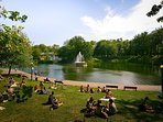 Parc Lafontaine is a popular place to unwind