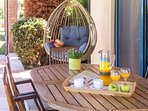 Enjoy your breakfast in the shaded veranda
