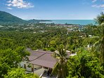 5mn away from Lamai village and beach and supermarket .280 degrees spectacular view