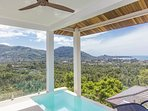 Infinity mini-pool and private terrace - stunning 280 view on Lamai Bay, coconut grove and mountain