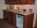 Lower level wine refrigerator