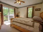 Master bedroom with queen bed, comfortable mattress and linens