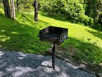 Charcoal park-style grill