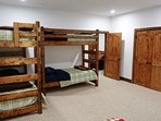 A bunkroom, of which there are 4 bunks