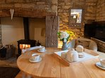 Enjoy a lovely breakfast in front of the roaring fire