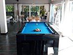 Billiards and dining table.