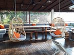 Let the wind swing you on our swing chairs...