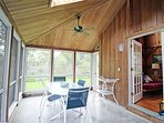 Guest house screened in porch