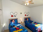 Mickey's Bedroom where adults and kids alike can get a good nights sleep
