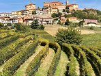 Montegrosso, surrounded by rolling hills and vineyards. It is a gorgeous holiday address in Piemonte