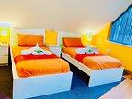 2 single beds option for Mezzanine floor bedroom