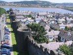 Conwy Town, Walls, Castle, Conwy River,
