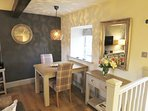 Dine in style in The Courtyard Cottage
