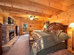 Main Level Bedroom at Log Wild!